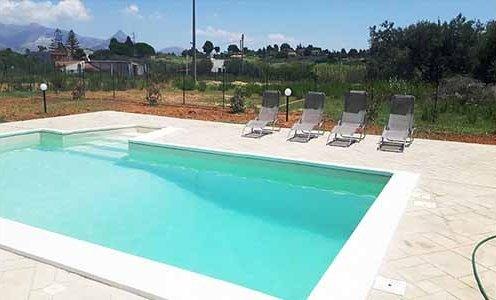 Balestrate villa con piscina & Appartamento in paese